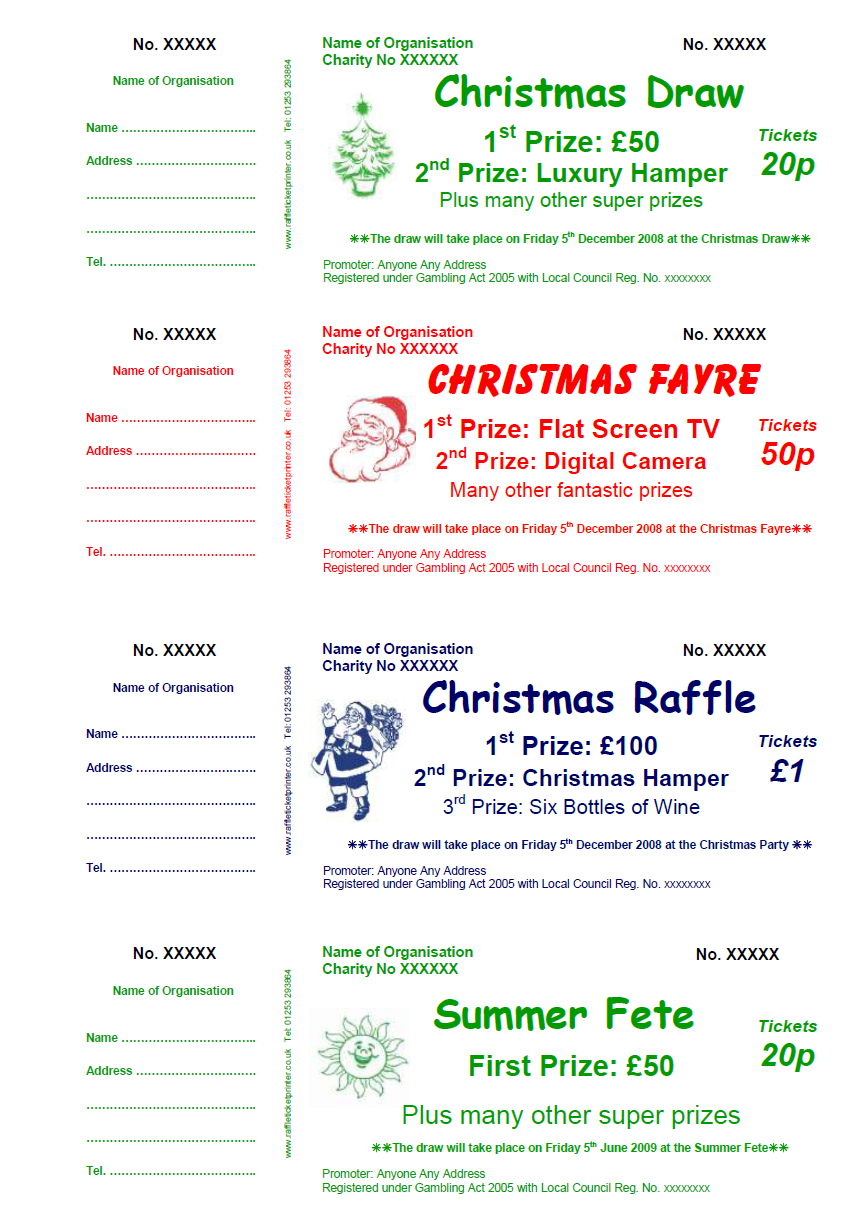 sample raffle ticket template pictures to pin on pinterest